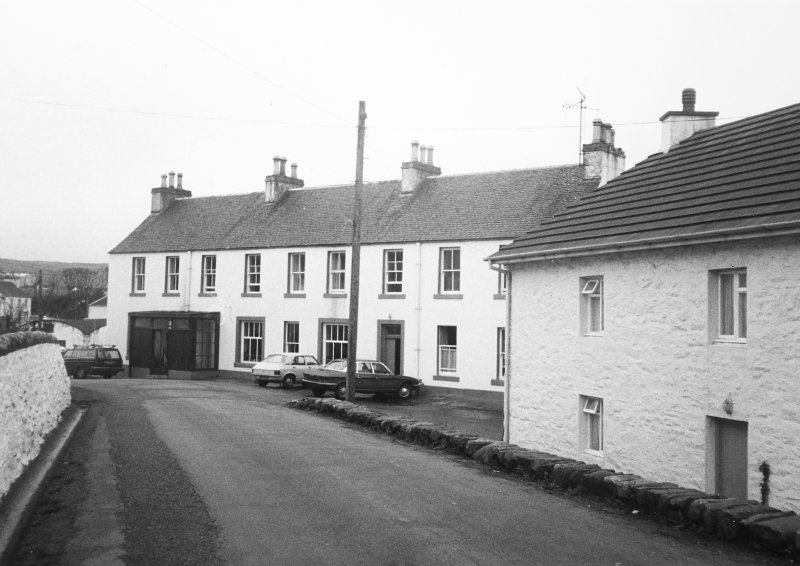 Port Charlotte Hotel, Islay. View from South.