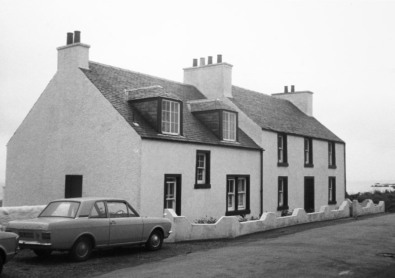 Achnamara and adjoining house, Rathad Na Rainne, Port Charlotte, Islay. General view from street front.