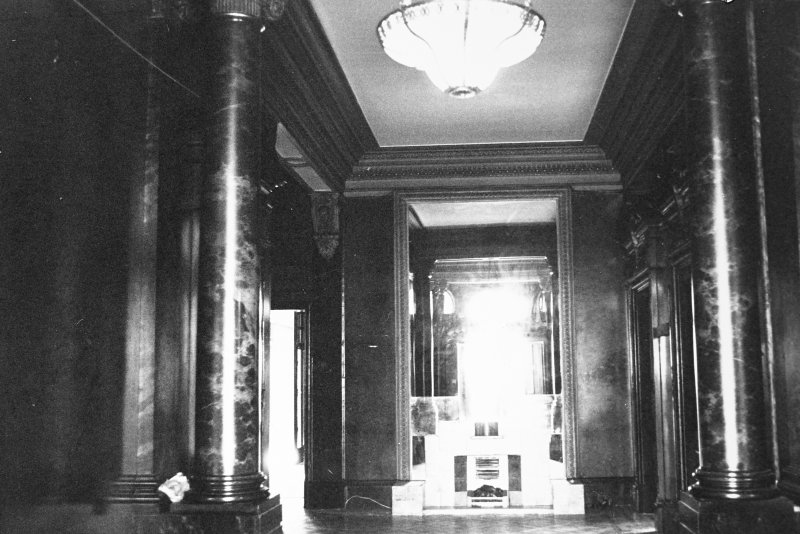 Glasgow, 6 Rowan Road, Craigie Hall, interior. View of main hall.