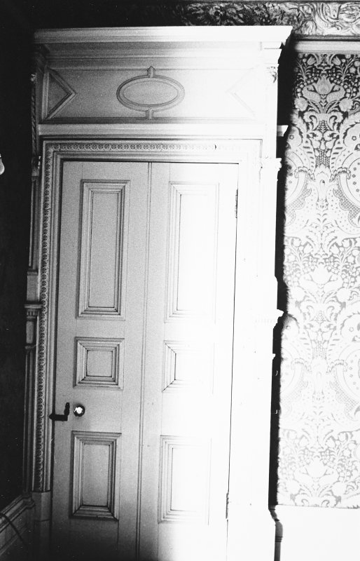 Glasgow, 6 Rowan Road, Craigie Hall, interior. View of door in drawing room.