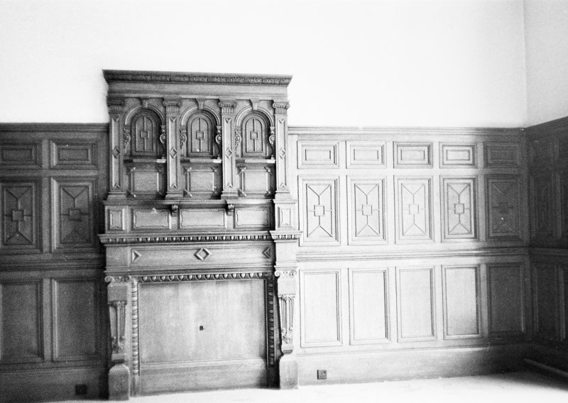 Interior. View of second floor panelling.