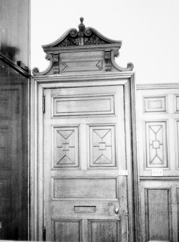 Interior. View of second floor door.
