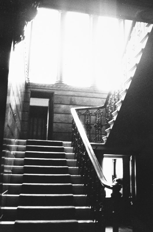 Glasgow, 6 Rowan Road, Craigie Hall, interior. View of staircase.
