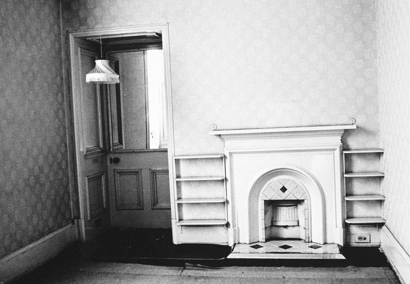 Glasgow, 6 Rowan Road, Craigie Hall, interior. View of small bedroom in main wing.