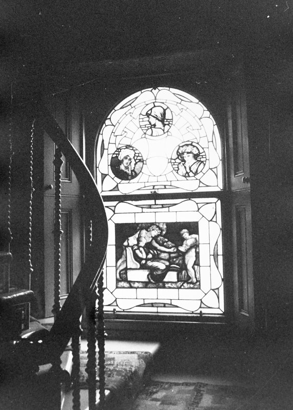 Glasgow, 6 Rowan Road, Craigie Hall, interior. View of window in service wing.