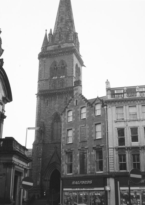 Dundee, Castlehill, St. Paul's Episcopal Cathedral. View of cathedral entrance from North-West.