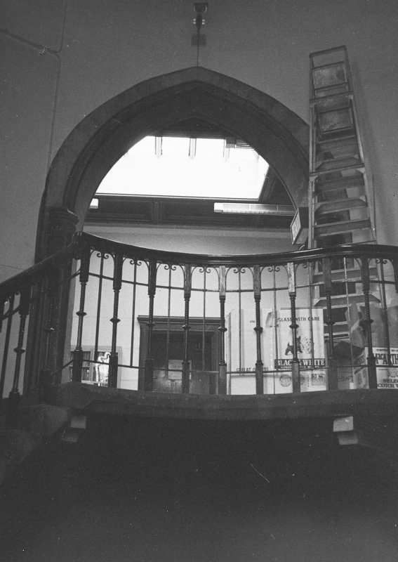 Interior view to top of staircase.