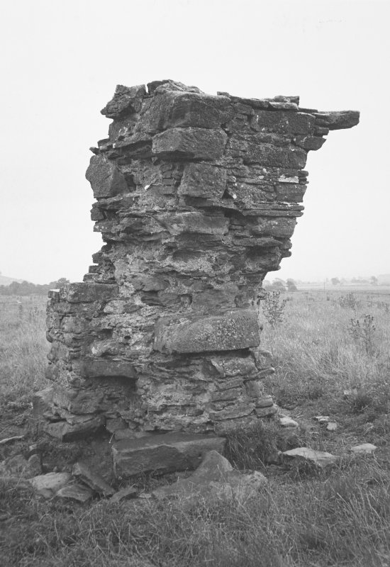 Gascon Hall. General view of ruined stonework.