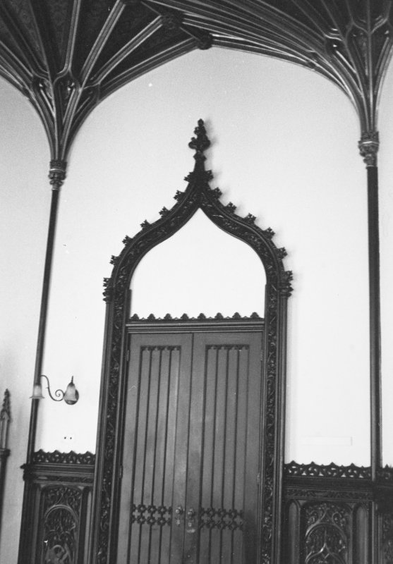 Taymouth Castle, Dining Room. View of doorway.