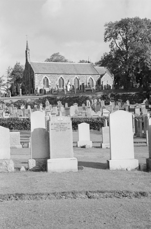 General view of Fyvie Church from graveyard.
