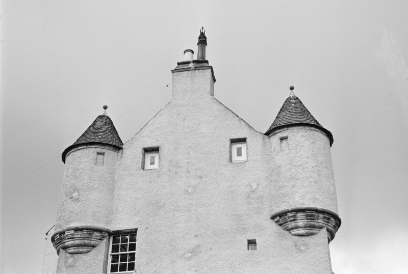 Detail of turrets, Balbithan House.