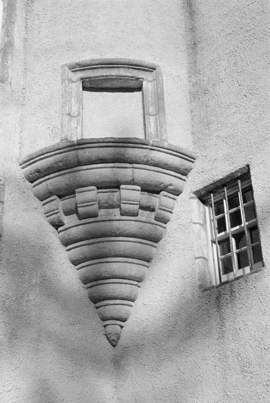 Detail of corbel of turret, Balbithan House.