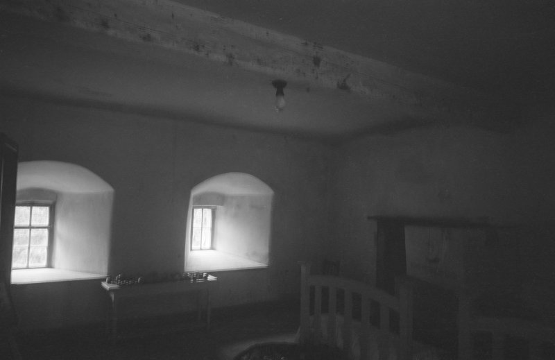 Interior view of Balbithan House showing basement or ground floor.
