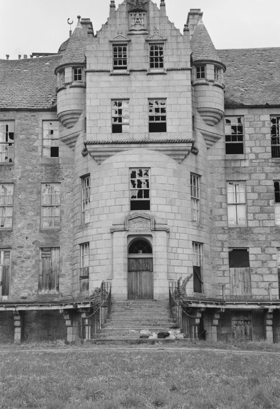 Detail of entrance to Aboyne Castle from S.