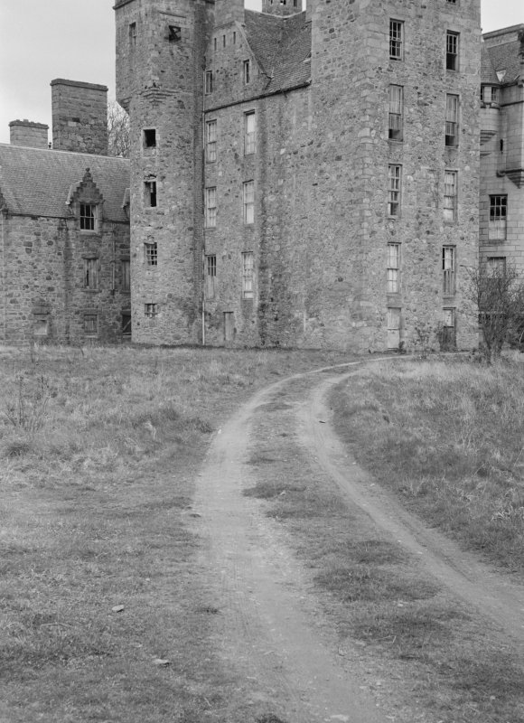 Detail of Aboyne Castle from SW.