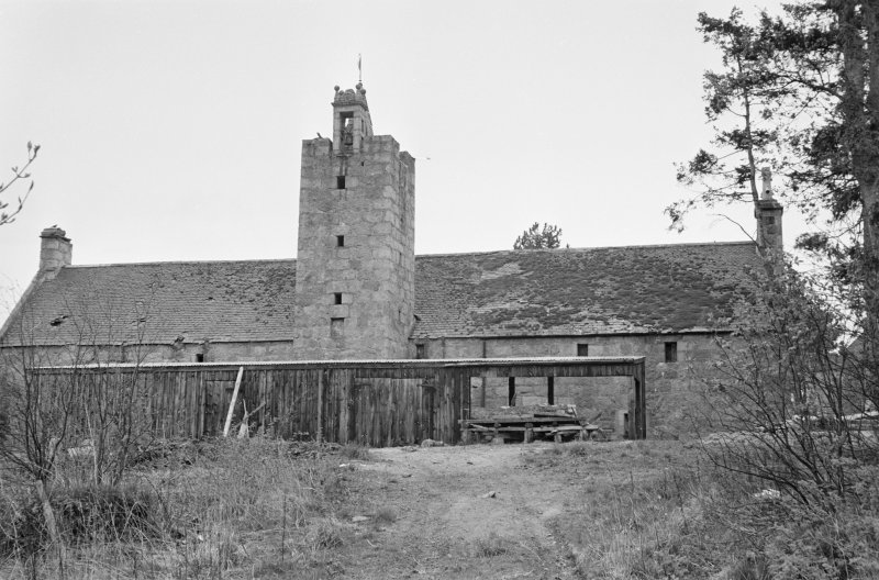 View of N range of farmbuildings, Aboyne Castle, from N.