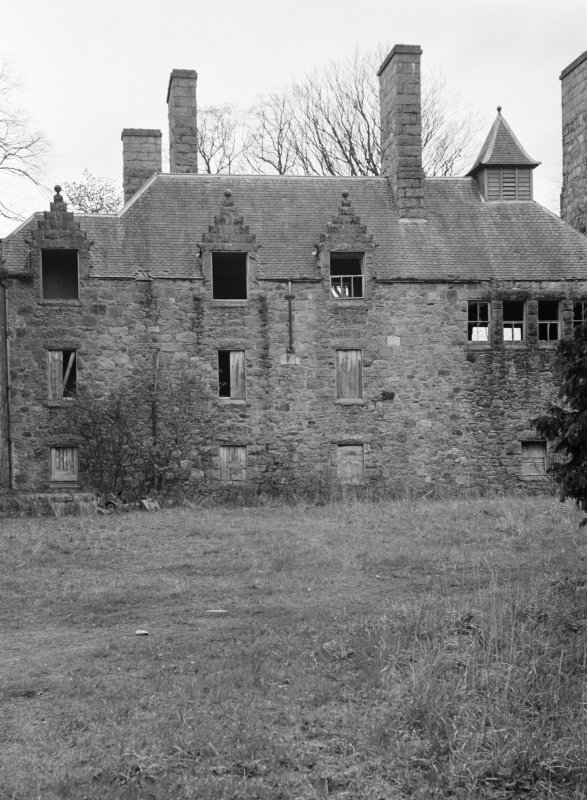 View of Aboyne Castle in derelict state.