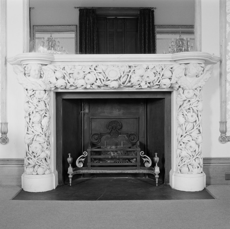 Dundee, Camperdown House, interior View of Fireplace, Drawing Room, Ground Floor
