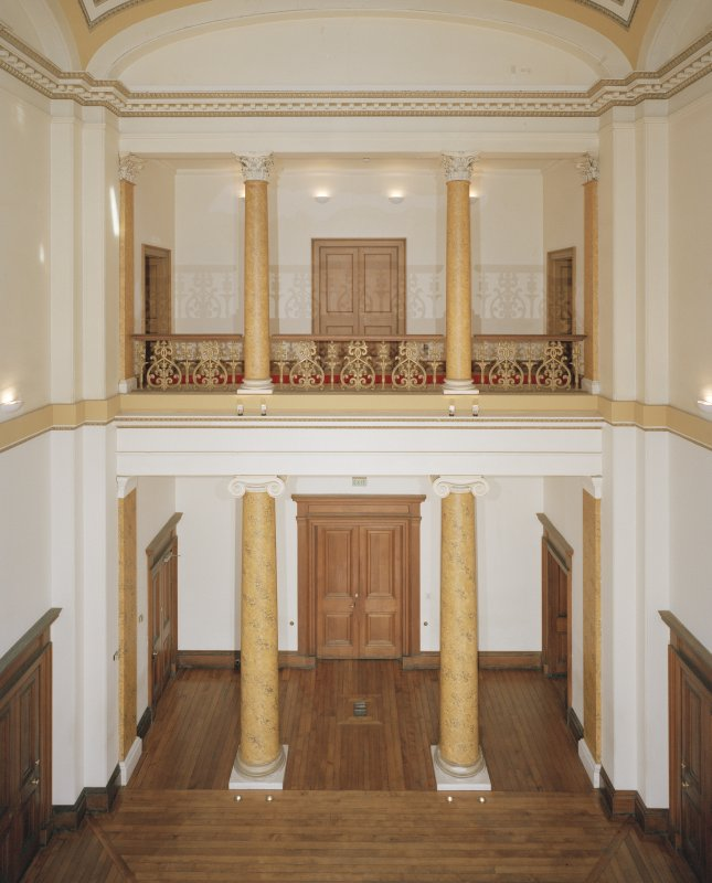 Dundee, Camperdown House, interior View from West, Main Hall, First Floor
