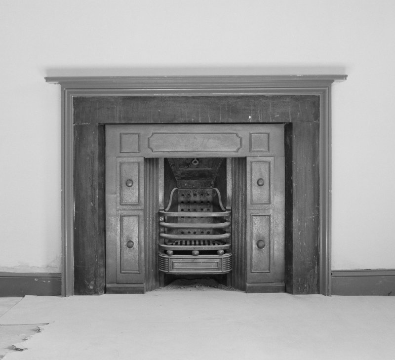 Dundee, Camperdown House, interior Detail of Fireplace with doors open, First Floor