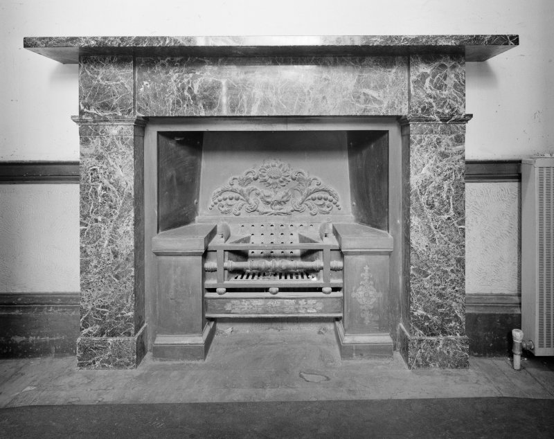 Dundee, Camperdown House, interior View of Fireplace on East Wall, West Entrance Hall, Ground Floor