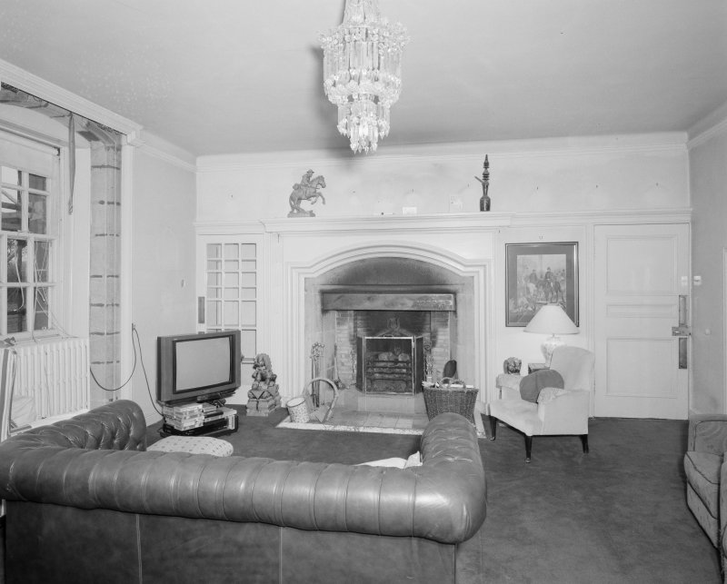 Gardyne Castle. Interior. View of drawing room on first floor.