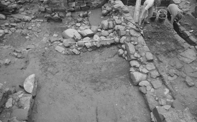 Jedburgh Abbey excavation archive Frame 33: Area 2: Trench E: 422 partially excavated. From N.