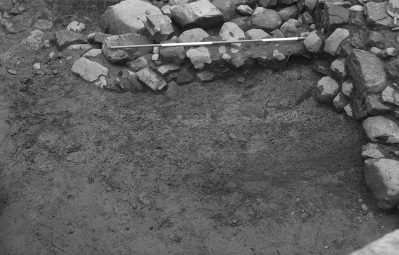 Jedburgh Abbey excavation archive Frame 34: Area 2: Trench E: 422 partially excavated. From N.