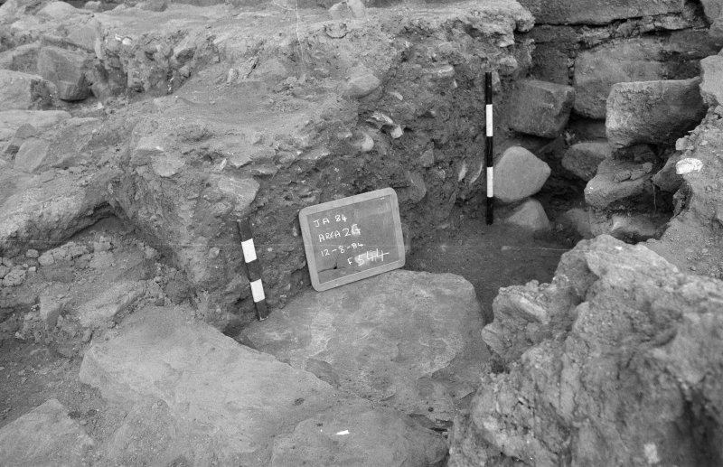 Jedburgh Abbey excavation archive Frame 36: Area 2: Trench G: W-face of sondage 544.