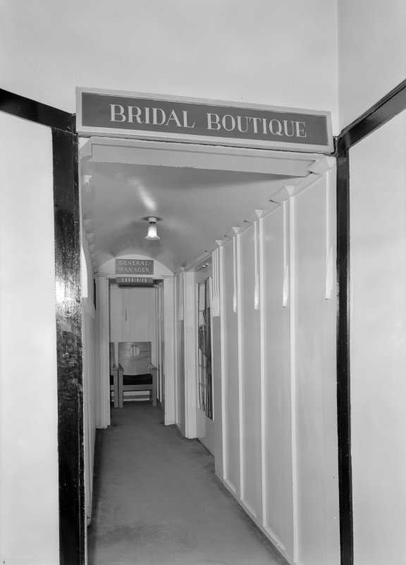 View of entrance to Bridal Boutique and General Manager's office, Daly's Department Store, Sauchiehall Street, Glasgow.