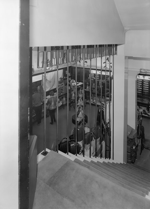 General view of shop floor from staircase, Daly's Department Store, Sauchiehall Street, Glasgow.