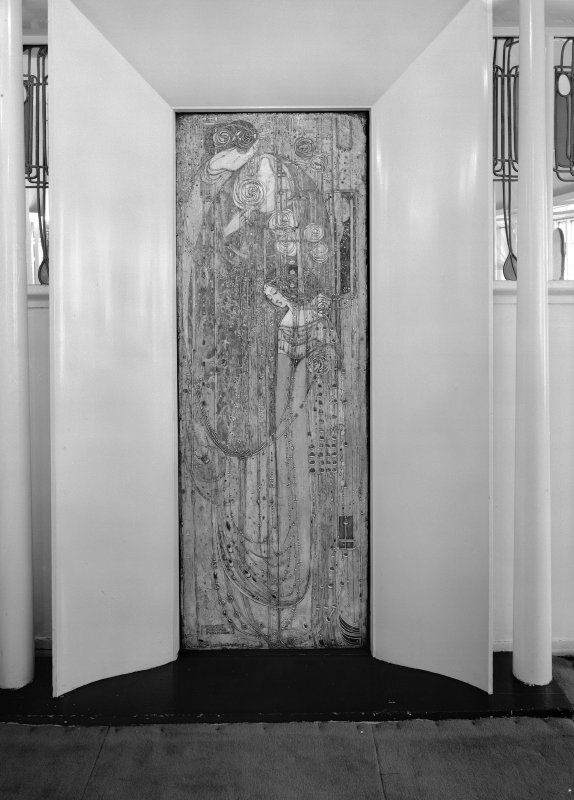 View of gesso panel by Margaret Macdonald Mackintosh, Daly's Department Store, Sauchiehall Street, Glasgow.