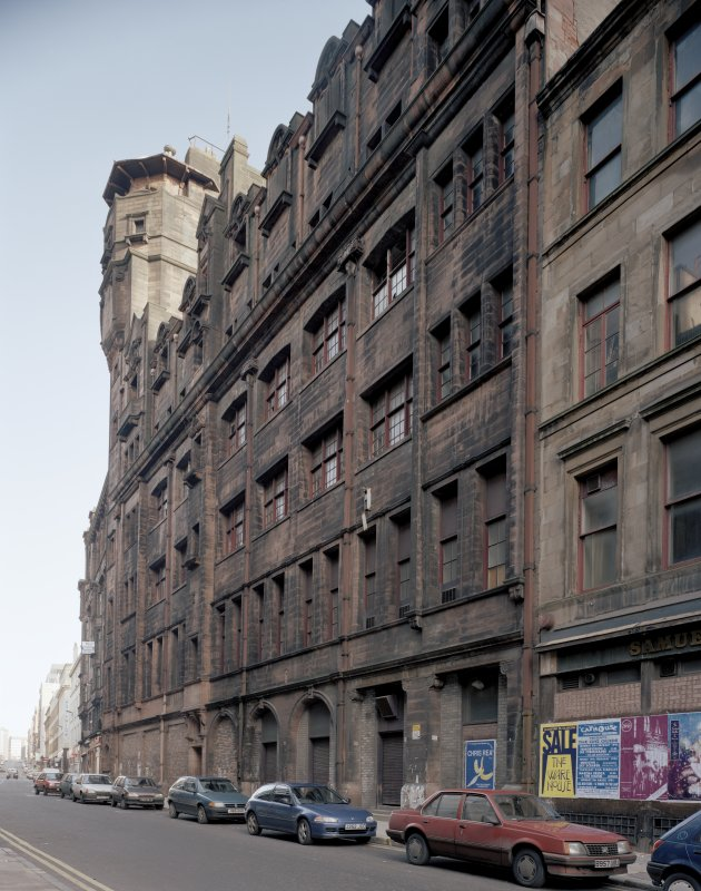 View of Mitchell Street, Glasgow, from SSW, showing the Glasgow Herald Building.