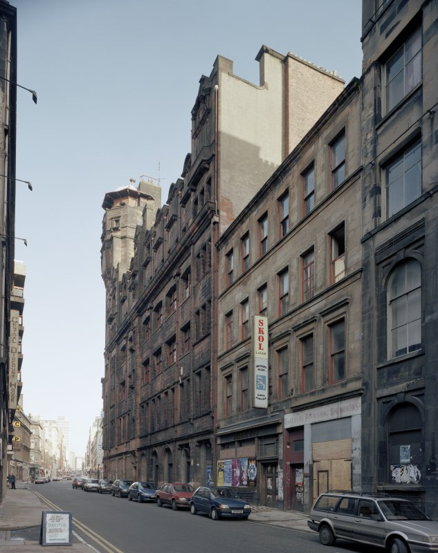 View of Mitchell Street, Glasgow, from S, showing the Glasgow Herald Building.