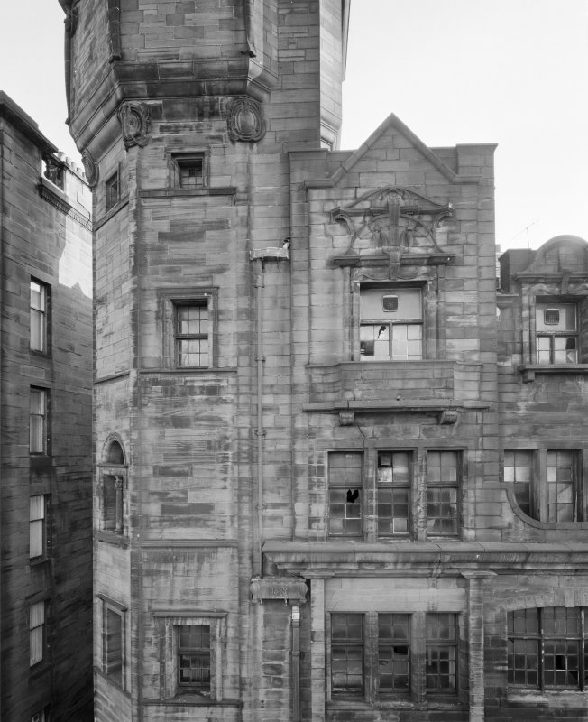 View of facade of Glasgow Herald Building, Mitchell Street, Glasgow, from W.