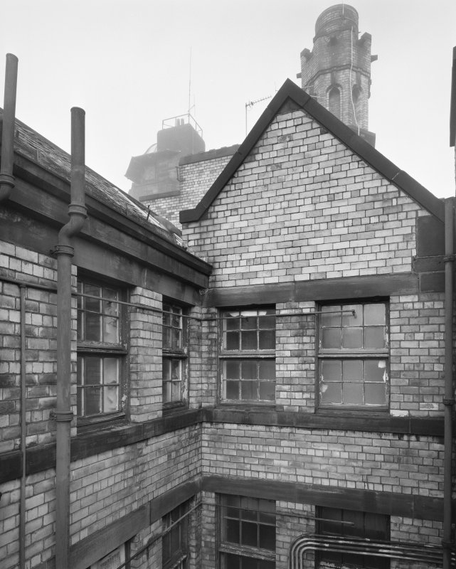 View of roof area, Glasgow Herald Building, Mitchell Street, Glasgow, from E.