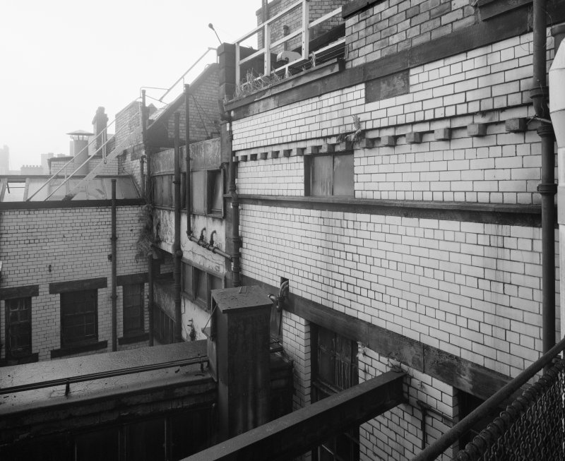 View of roof area, Glasgow Herald Building, Mitchell Street, Glasgow, from N.
