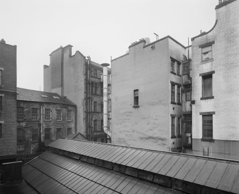 View of rear of Glasgow Herald Building, Mitchell Street, Glasgow, from SE.