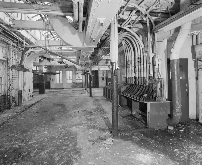 Interior view of Glasgow Herald Building, 7 Mitchell Lane, showing Lamson pneumatic tube equipment on top floor.