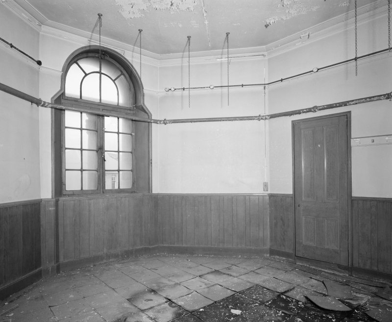 Interior view of Glasgow Herald Building, showing NW turret room on fourth floor.