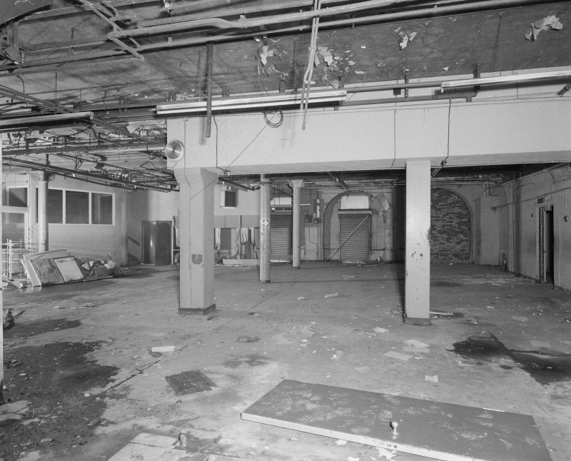 Interior view of Glasgow Herald Building, showing ground floor dispatch room from E.