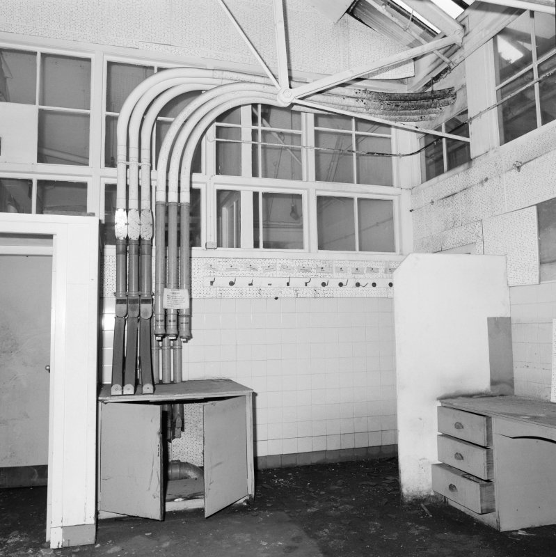 Interior view of Glasgow Herald Building, showing pneumatic tube system.