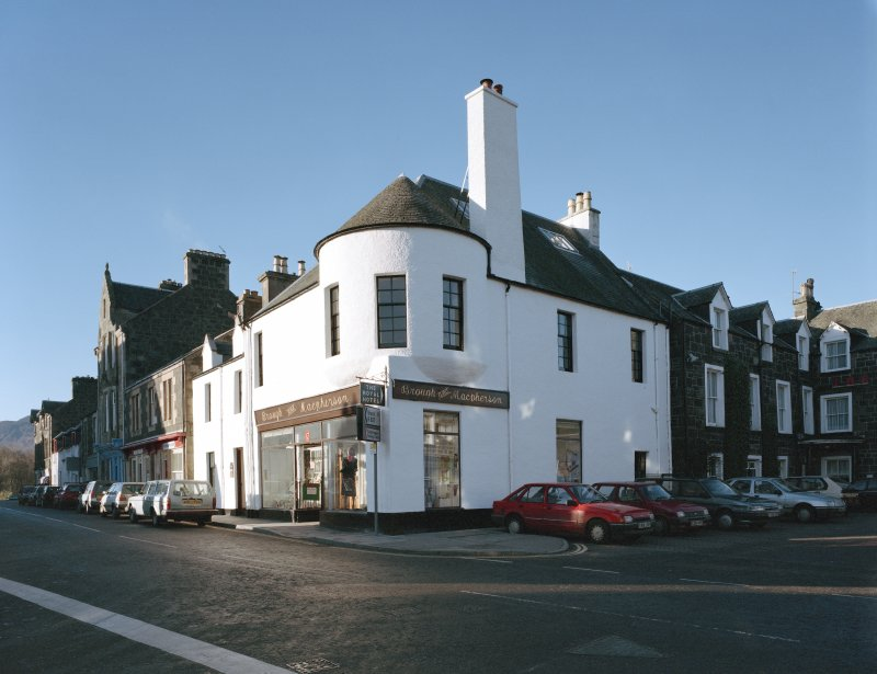 General view of 1 Dunira Street, Comrie, showing the premises of Brough and Macpherson from SE.