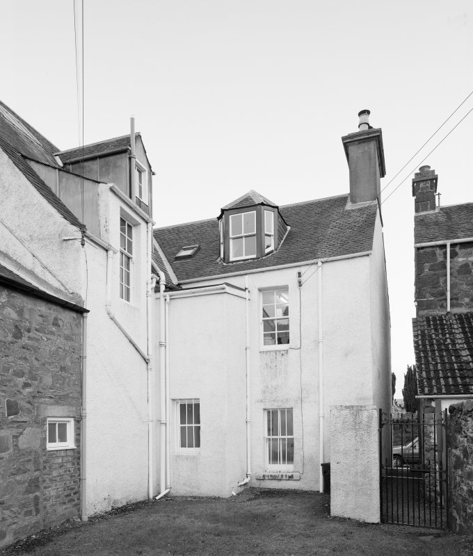 View of the rear of 1 Dunira Street, Comrie, from NW.
