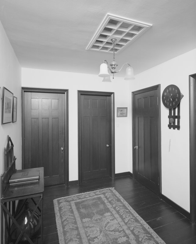 Interior view of 1 Dunira Street, Comrie, showing entrance hall to first floor flat.