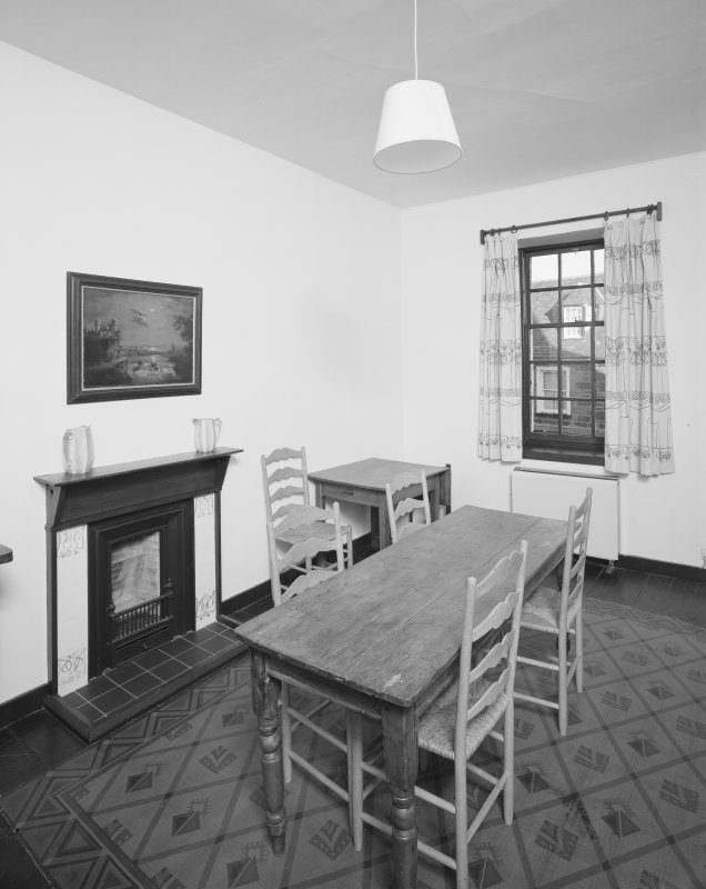 Interior view of 1 Dunira Street, Comrie, showing kitchen in first floor flat.