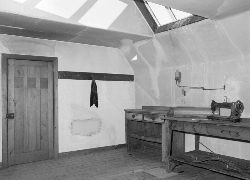 Interior view of 1 Dunira Street, Comrie, showing S attic room from S.