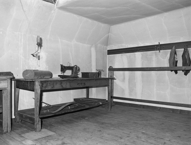 Interior view of 1 Dunira Street, Comrie, showing S attic room from NW.