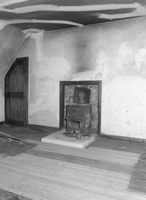 Interior view of 1 Dunira Street, Comrie, showing N attic room from S.