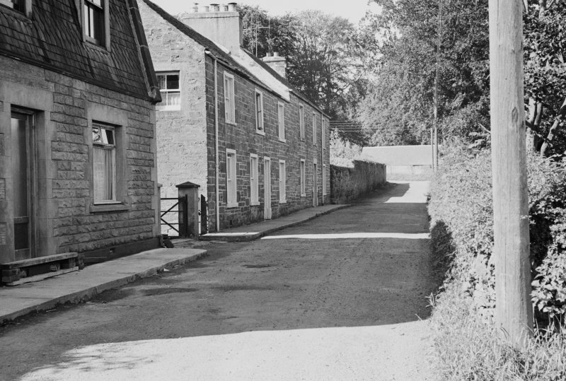 View of cottages at Pitkellony Street, Muthill.